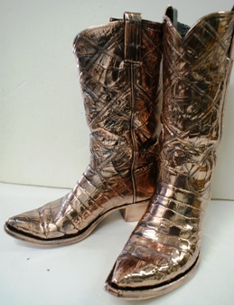 Cowboy Boots - Bronzed