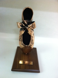 Pointe Shoe - Adult Shoes, Bronzed and mounted
