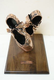 Pair of Pointe Shoes - Bronzed and Mounted