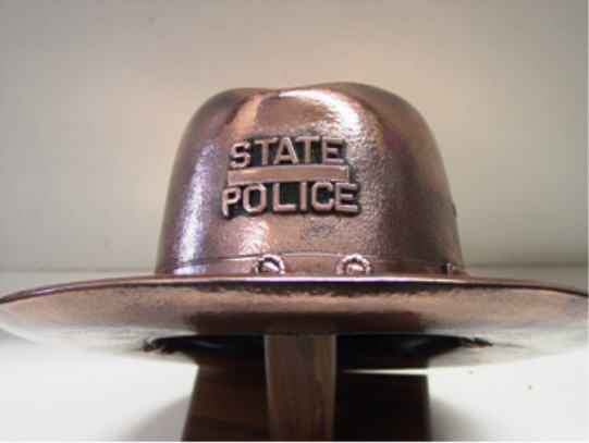 Police Trooper's Hat - Bronzed