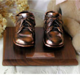 Baby shoe bronzing, pacifiers, bronze adult shoes, hats, boots, sports items, military items